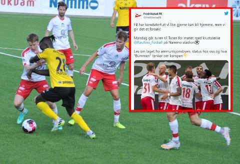 FBs Erik André Pedersen hadde ikke særlig tro på FFK før mandagens kamp mot Raufoss. Det fikk rødbuksene med seg.