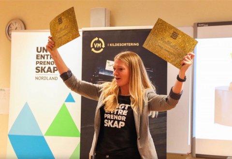 Hedda Eldøen er prosjektleder i Ungt Entreprenørskap Nordland. Nå skal de samarbeide med HRS om å få bærekraftig utvikling inn i skolen som tverrfaglig tema i Narvik-regionen.