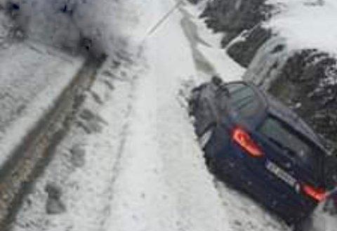 Utforkjøring på Kjøpsvikveien