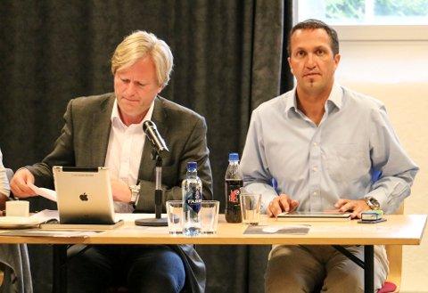 Bookmakerne har satt lavest odds på at Frode Fjeldsbø, til venstre, eller Andreas Eidsaa jr. blir ordfører etter valget.