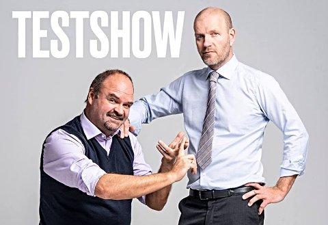 TESTER: En gang var de den nye norske humoren, fra «Lille Lørdag» til «Team Antonsen», nå tester Atle Antonsen og Bård Tufte Johansen sitt nye show på publikum i Kongsvinger.