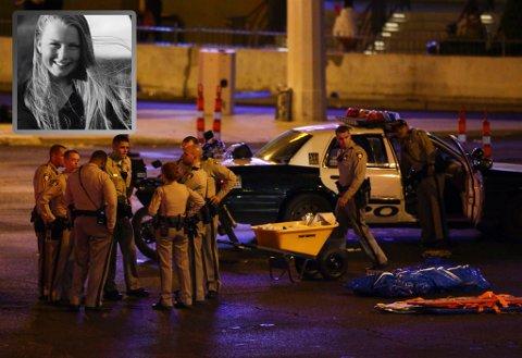 Las Vegas-politiet har samlet seg etter skytingen der nær 60 mennesker mistet livet og over 500 ble såret. Kristine Rønn fra Harpefoss synes det er skremmende å oppleve dramaet så tett på.