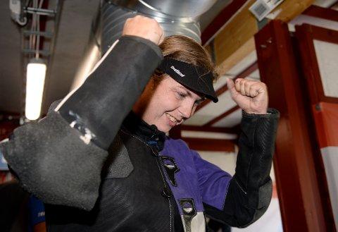 JUBEL: Vinstra-skytteren June Emilie Åsenden jublet for 343 og andreplass i klasse to på Landsskytterstevnet.