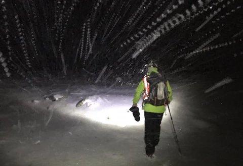 Snø: Turistane møtte snøvêr i fjellet.