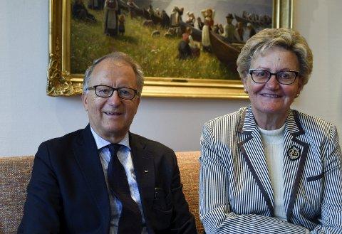 4. generasjon: Edmund Harris Utne og Ina Torill Utne kom inn i drifta av hotellet i 1969, same år som dei gifta seg. Paret har gullbryllaupsdag og jubileum i 2019.