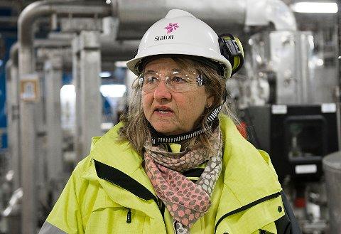 – Tredje fase i Troll-utviklingen realiserer 2,2 milliarder fat oljeekvivalenter og har en balansepris på under 10 dollar fatet, sier Margareth Øvrum, konserndirektør for teknologi, prosjekter og boring i Equinor. Foto: Marit Hommedal / NTB scanpix