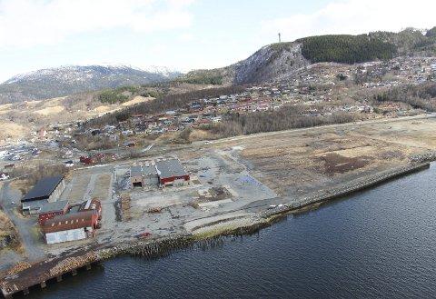 Leie: Skanska vurderer å leie 10-12 mål av området dersom selskapet får anbudet på E6 Helgeland sør. Foto: Jon Steinar Linga