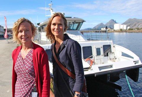 Administrerende direktør Hanne Nordgaard og markeds- og kommunikasjonssjef Majken Hauknes i Helgeland Sparebank ser fram til å lansere Sparebank 1 Helgeland.