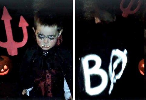 BRUK REFLEKS: Tryg forsikring råder foreldre til å gjøre refleks til en del av barnas Halloween-kostyme.
