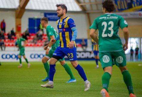 BEST: Christian Reginiussen var Altas beste og scoret to mål i 4-4-kampen mot Kvik Halden.