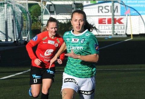 GÅR TIL ROSENBORG: Matilde Rogde (20) har signert for Rosenborg. Fra før er det klart at de sentrale spillerne Tuva Hansen, Martine Østenstad og Elisabeth Terland forlater klubben ved sesongslutt.