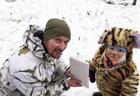 Liten tiger: Gulla Vega Dahl fikk en oppmerksomhet  av Kyrre Hansen for sin fine tigerdress.