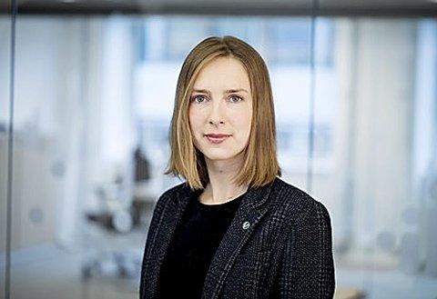 Næringsminister: Iselin Nybø lover penger til steder med mye arbeidsledighet. Holmestrand er ikke blant de byer eller tettsteder som får noe denne gangen. Foto: regjeringen.no