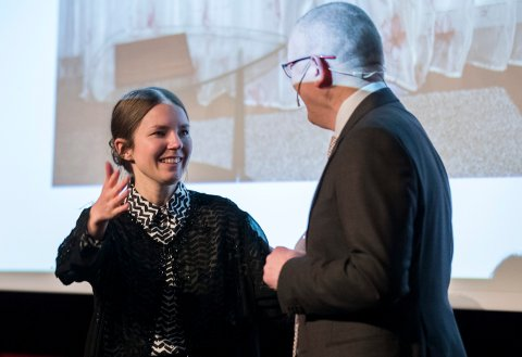 OSLO  20180309. Katinka Hustad vant prisen i  vÖrets Bilde pv Litteraturhuset.  Foto: Berit Roald / NTB scanpix