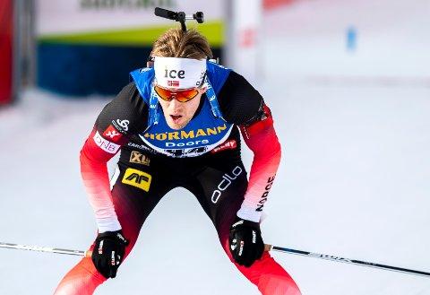 25.PLASS: Erlend Øvereng Bjøntegaard gikk i mål på 25. plass under fredagens sprint.
