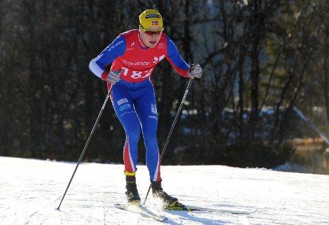 I RUTE: Arnt Gunnar Winther gikk bra og var bare godt og vel minuttet bak Petter Northug som var et forbilde i yngre dager.