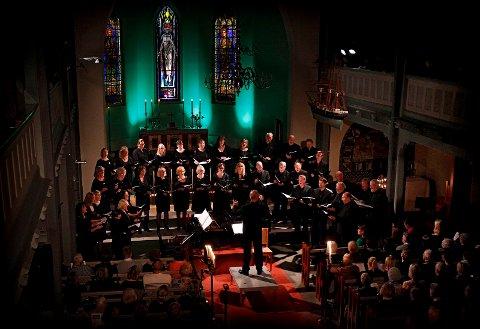 ALLEHELGEN: Moss kammerkor holder Allehelgenskonsert i Moss kirke. Bildet er fra et tidligere år.