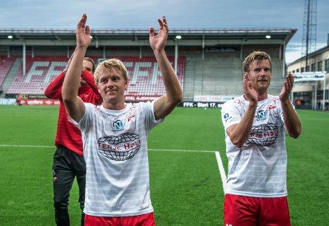 SEIER! Ulrik Flo og Filip Westgaard sikret seieren for FFK hjemme mot Åsane.