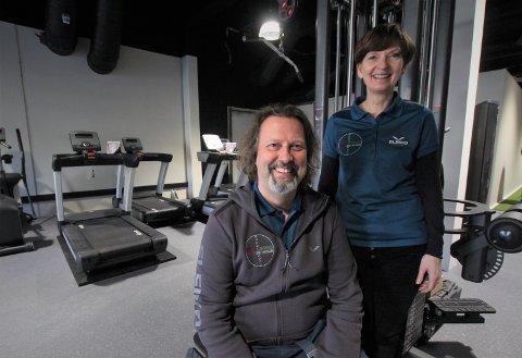 GLADE: Stig Wickstrøm og Anne-Karin Evensen er glade for at Kambo Treningssenter snart er klar for åpning.