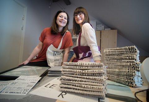 FAMILIEBEDRIFT: Camilla og Jeanette Austad gjør god butikk på gamle ord og utrykk fra Nord-Norge. Nå utivder de produktsortementet med nye dialekter, og beveger seg sørover i landet.
