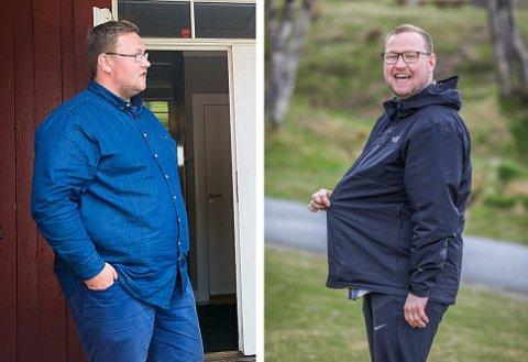 LETTERE HVERDAG: Erlend Svardal Bøe (28) er toppkandidat for Troms Høyre foran høstens stortingsvalg. Han får bokstavelig talt en letter valgkamp enn tidligere. I august 2016 veide Svardal Bøe 140 kilo. Nå viser vekta 118 kilo, og han blir stadig lettere. Bare siden februar har han gått ned 10-12 kilo med enkle grep.
