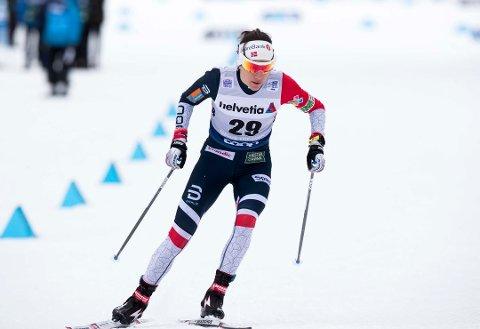 IKKE OPTIMIST: Heidi Weng har ikke greid å prikke noen storform denne vinteren. Nå begynner det å nærme seg VM i Seefeld, og Weng er ikke optimist.
