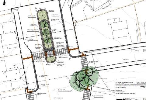 Stort prosjekt: Her er skisse for området der kommunen nå skal grave.