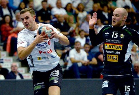 MÅLKONGE: Sigvaldi Gudjonsson hamret inn målene for Elverum i Terningen Arena.