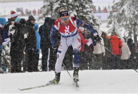 I TOPPEN: Petter Austberg Bjørn vartet opp med 20 treff og gikk inn til en sterk sjuendeplass i B-puljen under fellesstarten.