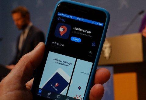 Smittestopp-appen ble lansert i dag.