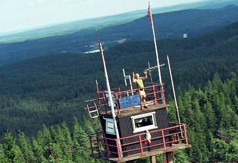 Per Evensen fra Mysen tilbrakte mange somre i Nord-Europas eneste bemannede branntårn. ARKIV