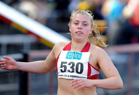 Vilde Gjesbakk har forbedret persen på 100m to ganger denne forsesongen.