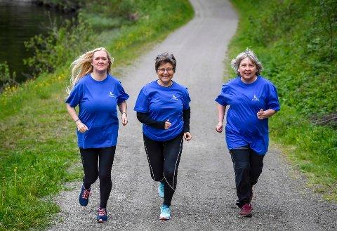 Løper for livet: F.v. Frivillige Turid Iversen, Berit Skoglund og daglig leder i Termik Rana, Elin Smith-Hansen skal delta på Alstahaug Maraton for å øke oppmerksomheten rundt betydningen av frivillig arbeid.