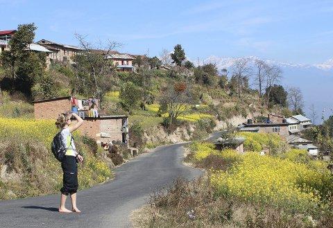 FOR EN NATUR: I klarvær kunne man se Himalaya i bakgrunnen.