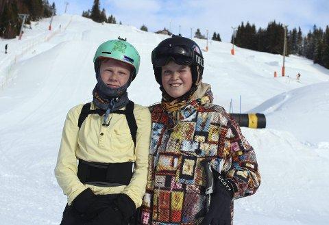 Sondre Fivelsdal og Birk Rudrud Herdlevær liker spesielt de store hoppene i bakken.
