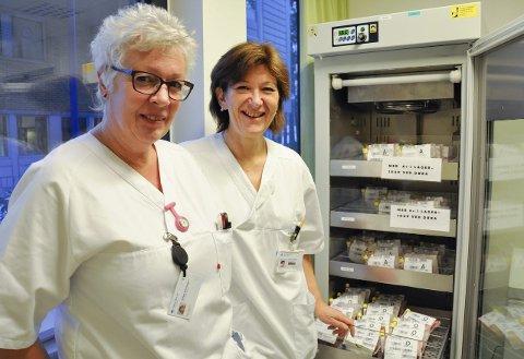 God tilgang: Overbioingeniør Sidsel Brenengen og blodbanksjef Trude Solberg er godt fornøyd med det lokale blodgiverkorpset.