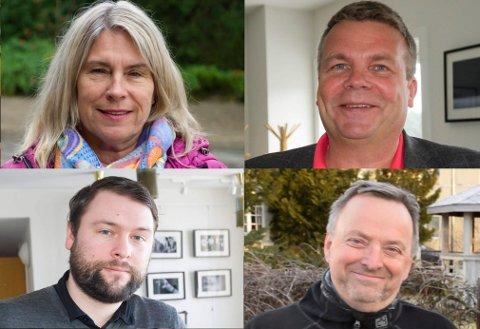 FIRKLØVERET: Kirsten Orebråten (Ap), Dag Erik Henaug (H), Magnus Herstad (Frp) og Knut Stubben (KrF) representerer de fire partiene som inngår et valgteknisk samarbeid. De to førstnevnte blir henholdsvis ordfører og vararordfører.