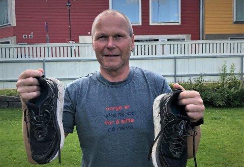 KLAR FOR JUBILEUMSLØPET: Øystein Ringnes har deltatt hvert eneste år siden oppstarten av Ringeriksmaraton i 1995. I år jubilerer han.