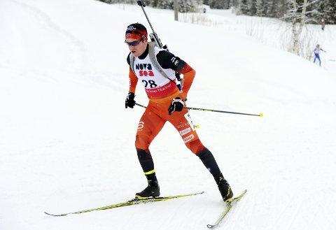 I FORM: Martin Lindland markerte seg i helgas norgesmesterskap i skiskyting i Mo i Rana,