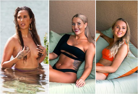 Cecilie Andrea Røising (23), Eileen Eriksen (28) og Amalie Paulsen (21) er tre av seks jenter som skal være med på paradise Hotell til høsten.