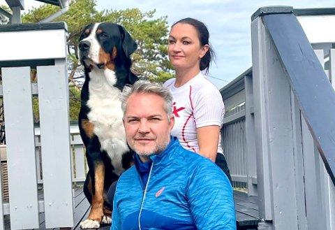 Vidar Løken og Charlotte Spro Løken ble jaget vekk av en sint hytteeier på Spjærøy.
