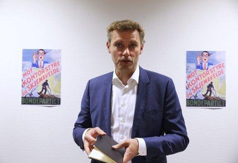 Leder av Senterpartiets valgkomité, Ola Borten Moe.