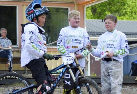 Trio: Sondre Rød Goska, Elias Stubergh og Sebstain Mosbæk stilte alle tre i klasse gutter 10-12 år.