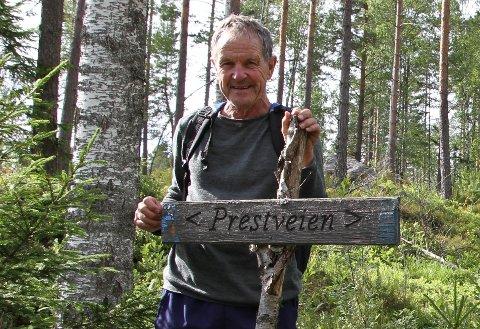 Den gamle Prestveien gikk fra Rødenes til Rømskog. Nå er det er fin sti.