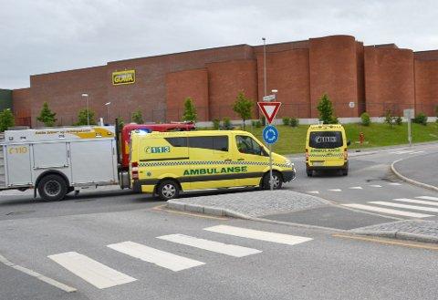 Det skjer ulykker også i rundkjøringer som her ved Glava i Askim.