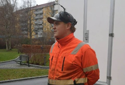 RØRFORNYING: Jens Marius Vaglen har jobbet i anleggsbransjen i flere år.