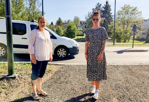 FARLIG VEI: Ida Gundersen og Kamilla Skaarer fra FAU på Hovin Skole mener tiltakspakka Sp legger frem fem dager før valget ikke holder mål. Arkivfoto.