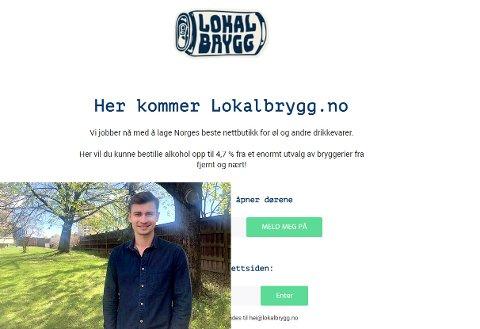 ØL PÅ NETT: Eirik Tomter (22) ønsker skal man kunne bestille øl på nett og få det levert til nærmeste postkontor.