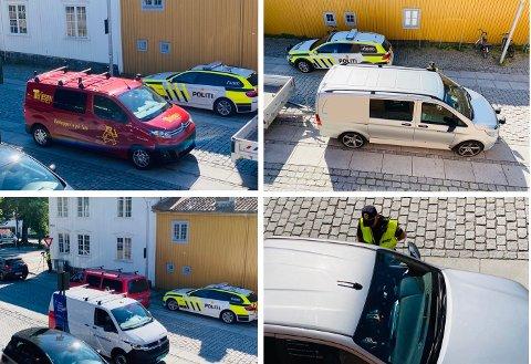 TRAVELT: Politiet hadde mer enn nok å gjøre da de vinket til side varebiler og privatbiler fredag formiddag.