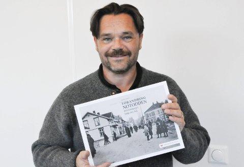 BYEN I BILDER: Forandring Notodden viser utviklingen av byen – bilde for bilde. Peter Lukas forteller om denne utviklingen gjennom sine bilder. Tatt på samme sted som for hundre år siden.